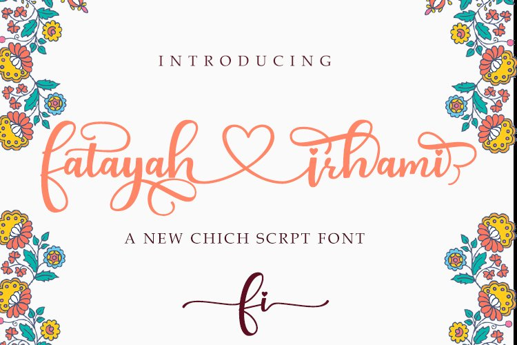 fatayah irhami - a chic script font example image 1