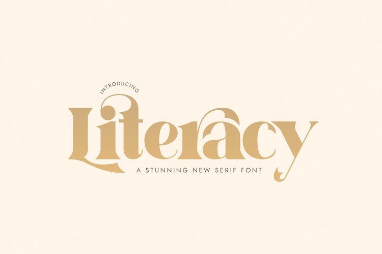 Literacy Serif Font example image 1