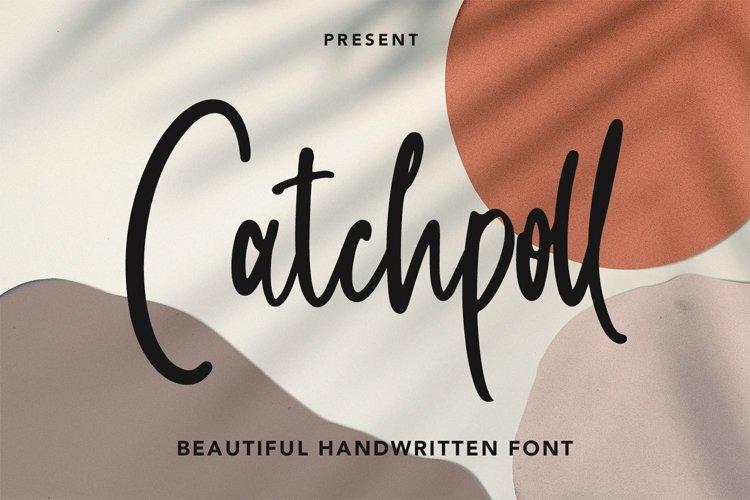 Web Font Catchpoll - Monoline Handwritten Font example image 1