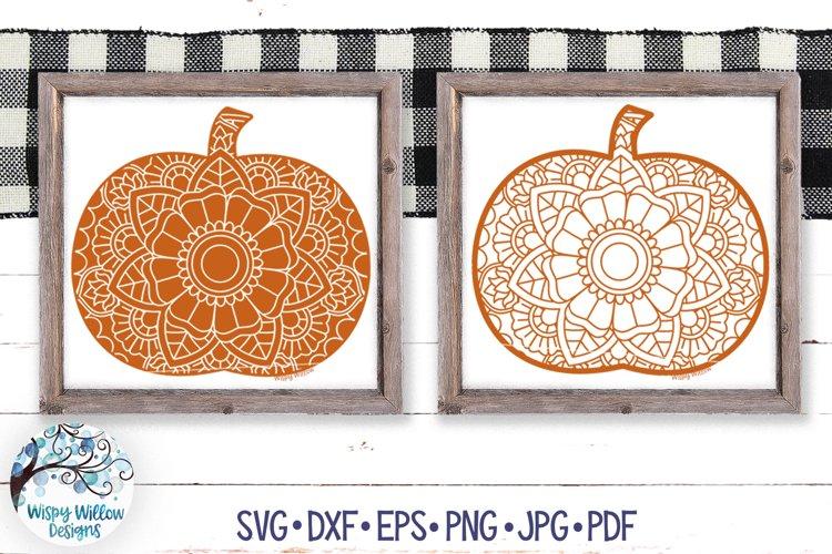 Pumpkin Mandala SVGs | Halloween Mandala SVG Cut Files example image 1