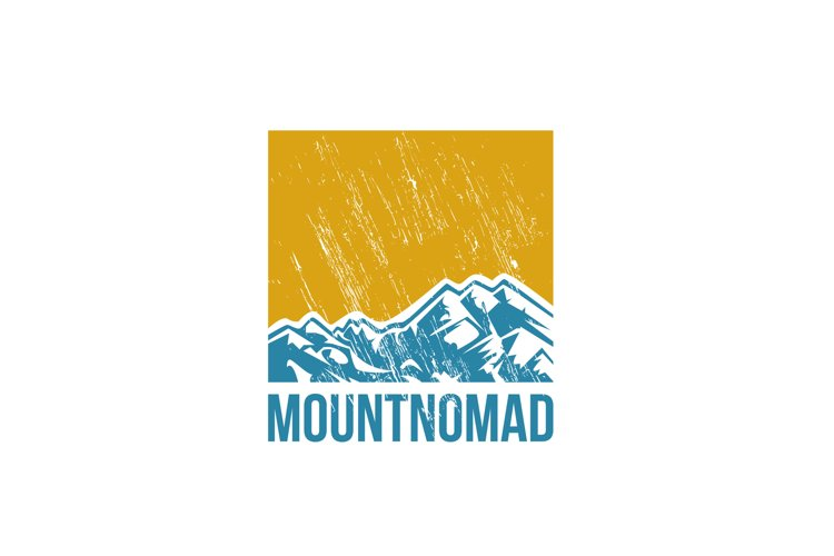 Mountain Nomad Vector Logo Design Template example image 1
