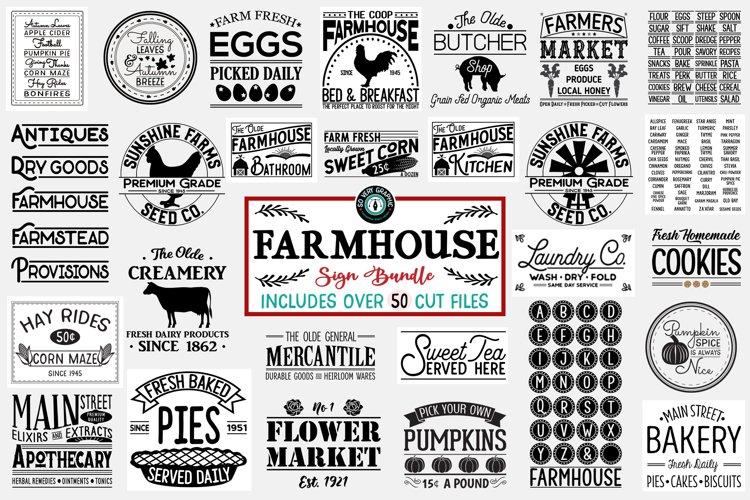 Vintage Farmhouse Sign SVG Bundle of 50 Designs example image 1
