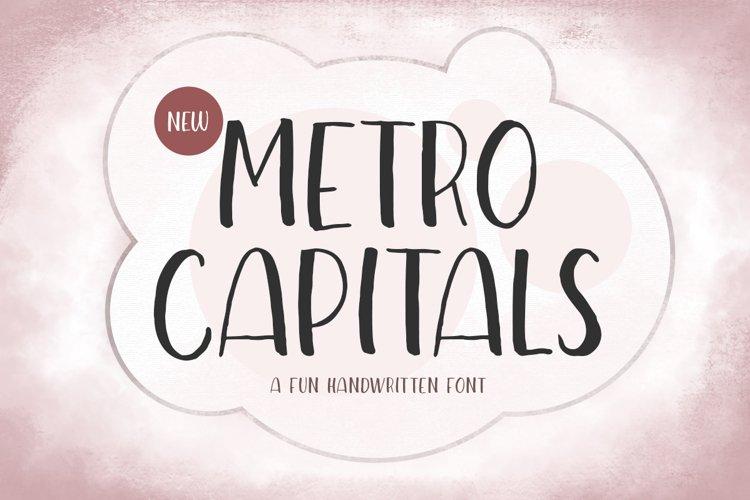 Metro Capitals - A Fun Handwritten Font example image 1
