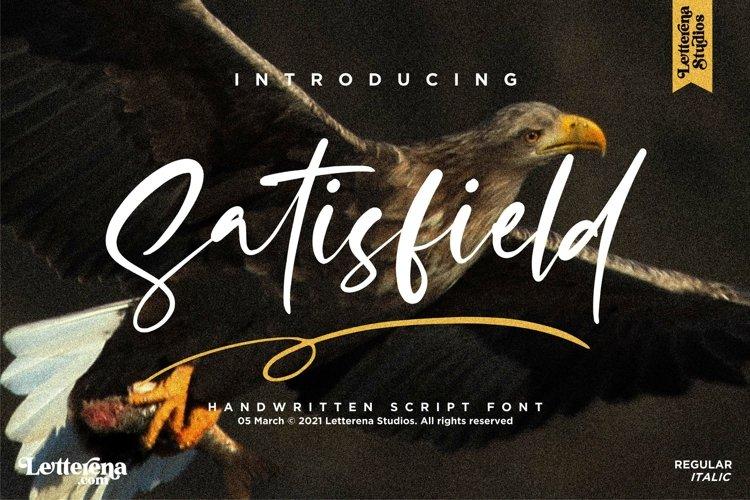 Satisfield - Signature Script Font example image 1