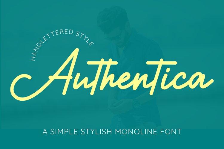 Authentica - A Simple Stylish Monoline Script