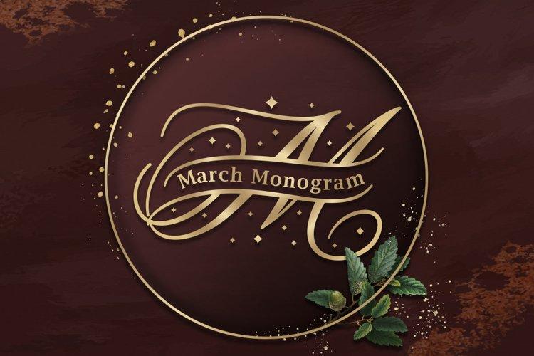 March Split Monogram example image 1