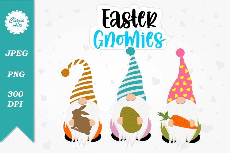 Easter Gnomies, Gnomes Clipart, Easter Sublimation Designs, example image 1
