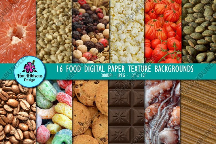 16 Food Photography Background Texture Images Bundle