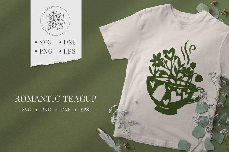 Romantic Teacup SVG Cut-File
