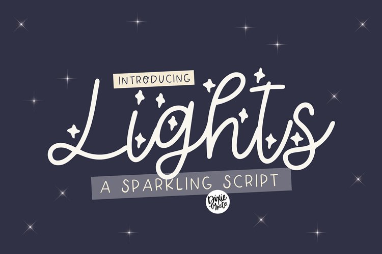 LIGHTS a Sparkling Script example image 1