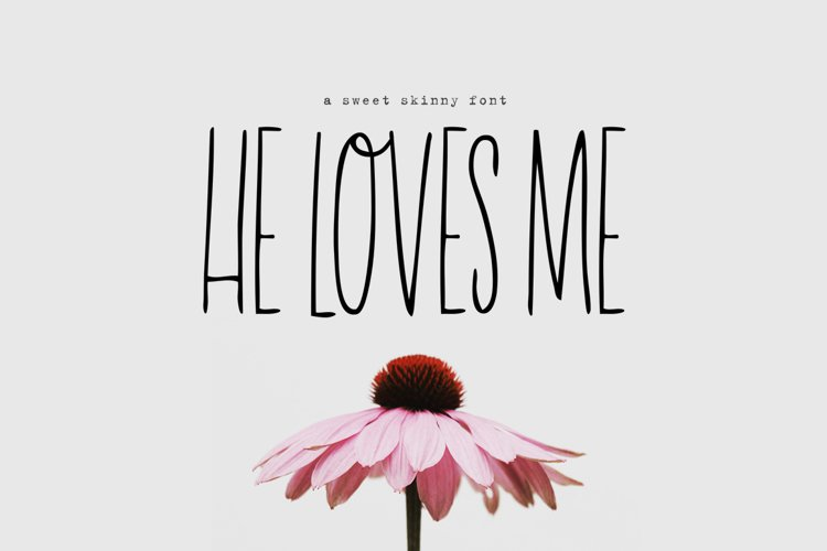 He Loves Me Skinny Font example image 1