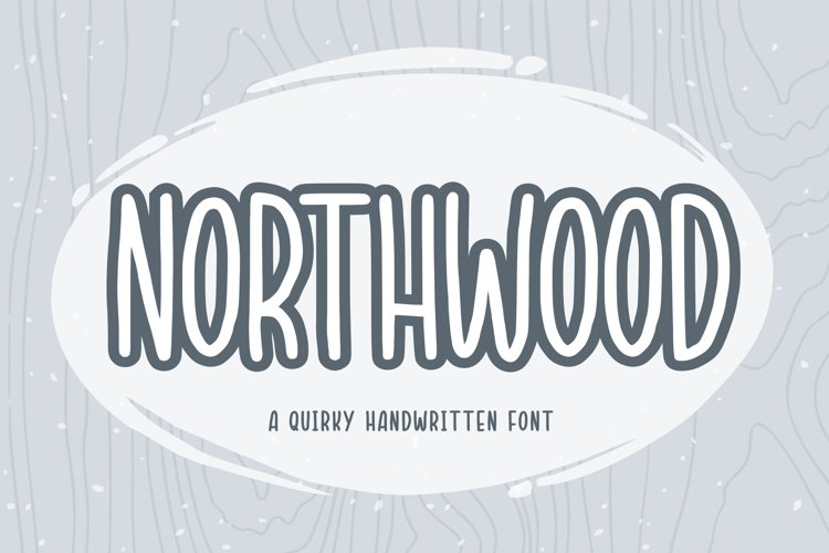 NORTHWOOD QUIRKY HANDWRITTEN FONT example image 1