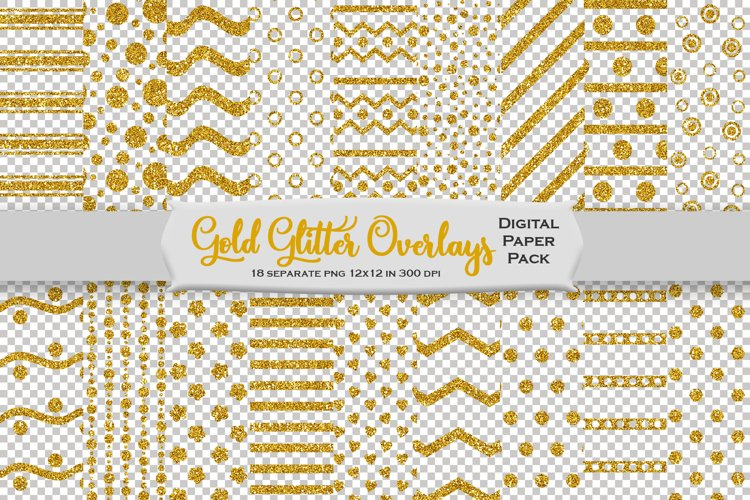 Gold Glitter Decorative Overlays example image 1