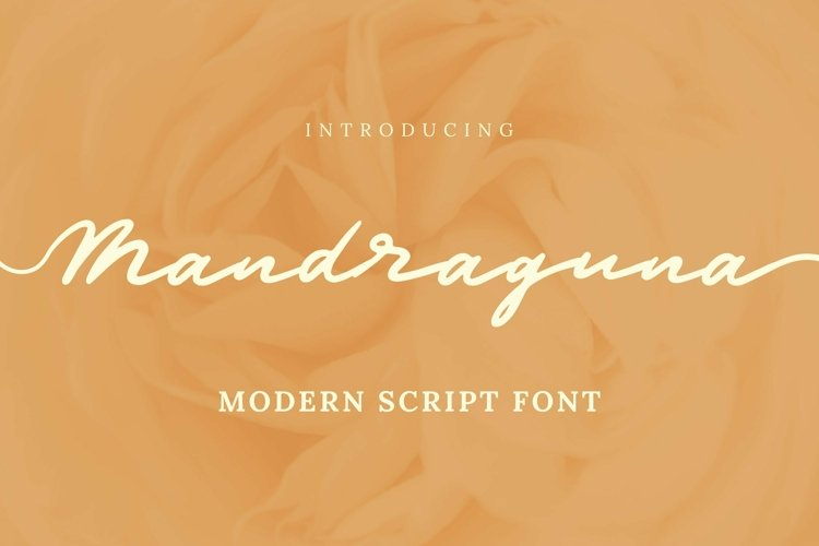 Web Font Mandraguna Font example image 1