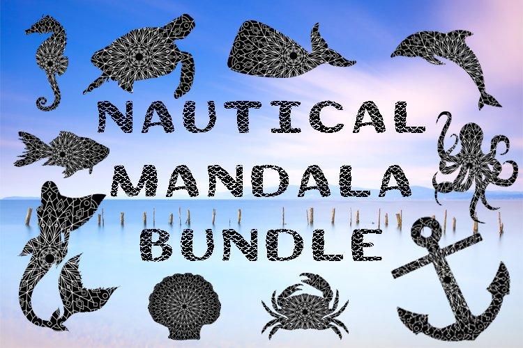 Nautical Mandala Bundle SVG, EPS, DXF, JPG, PNG