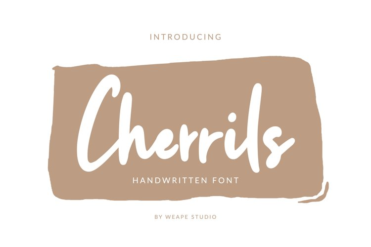 Cherrils - Handwritten Font example image 1