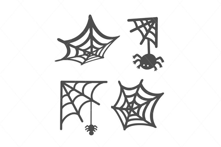 Cute Spider Vector SVG Cut File Clipart Instant Download example image 1