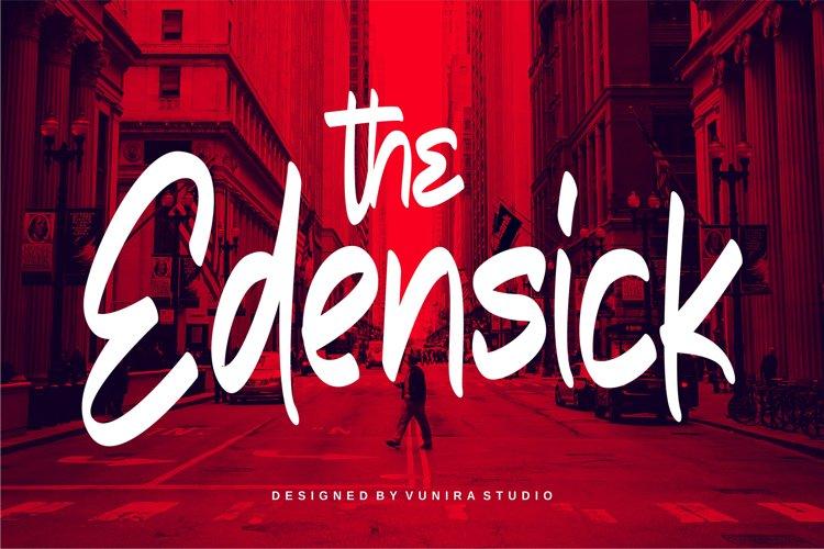 The Edensick   Handwritten Font example image 1