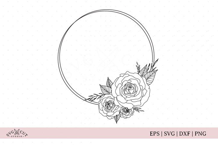 Flower Frame SVG, Floral Wreath SVG