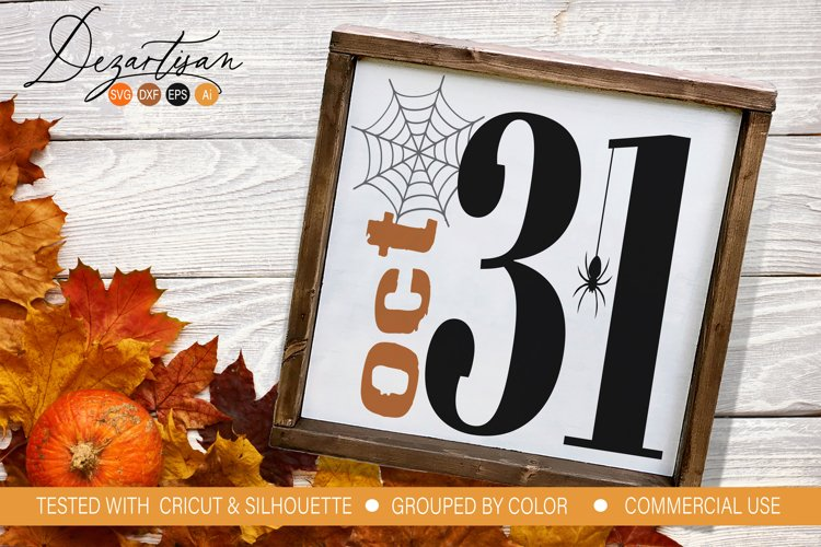 Halloween Oct 31 spider web DXF SVG Cut File