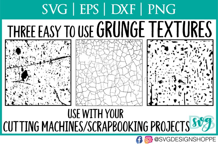 Grunge, Distressed, Texture for Cutting Machines - Free Design of The Week Font