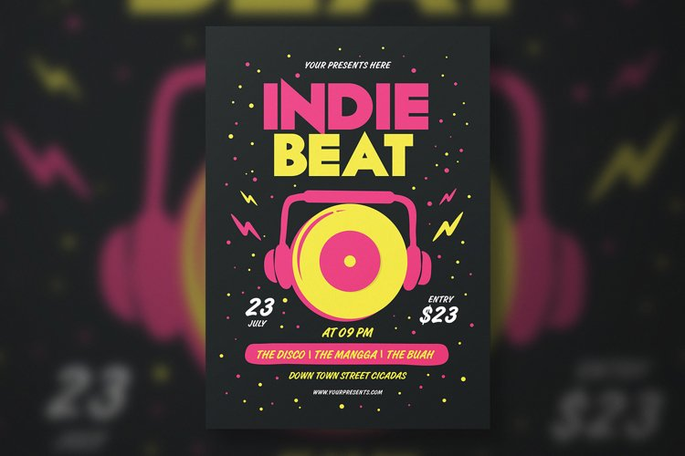 INDIE BEAT FLYER example image 1