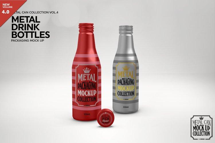 Metal 330ml Drink Bottles Packaging Mockup