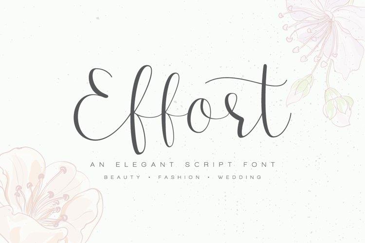 Effort Calligraphy Font example image 1