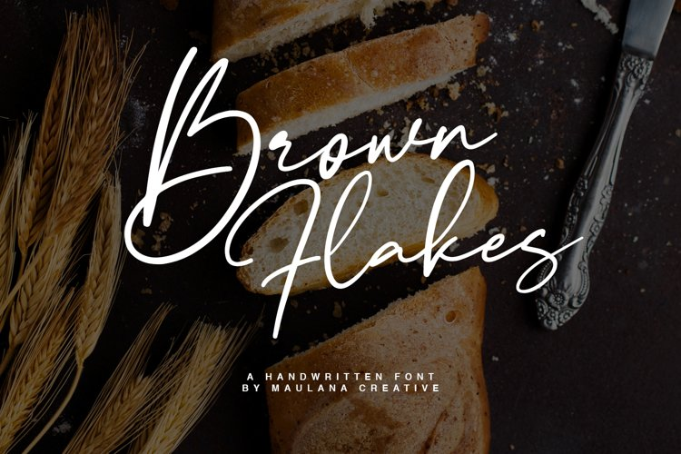 Brown Flakes Font example image 1