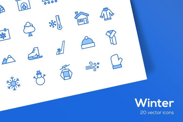 Winter Icons Set - SVG
