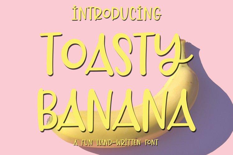 Web Font Toasty Banana - A Fun Hand-Written Font example image 1