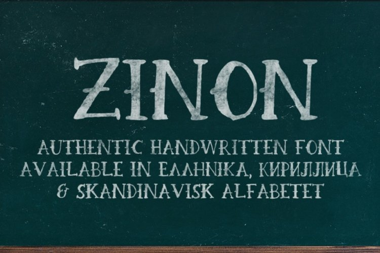 Zinon Handwritten Font example image 1