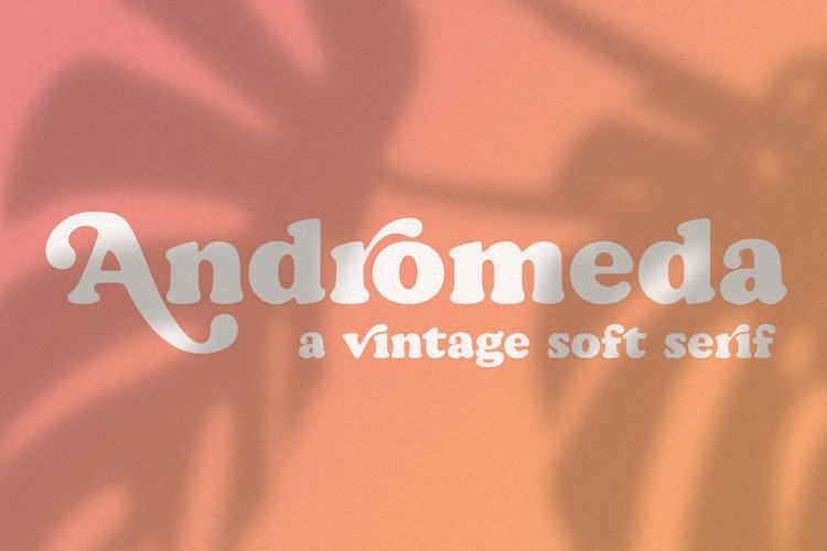 Andromeda // A Vintage Soft Serif Font example image 1