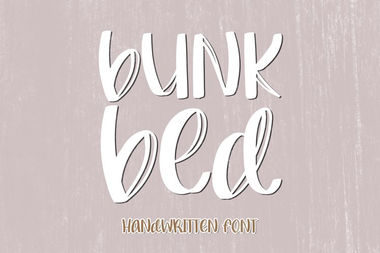 Bunk Bed - A Quirky Handwritten Font example image 1