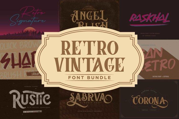 Retro Vintage Font Bundle example image 1