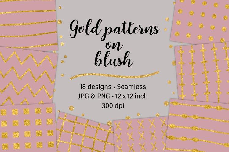 Gold Patterns on Blush example image 1