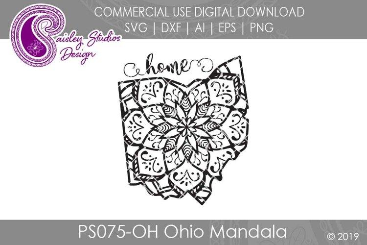 Mandala Ohio Home SVG DXF Ai EPS PNG example image 1