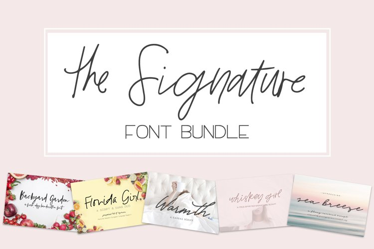 The Signature Font Bundle by Beck McCormick example image 1