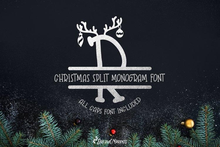Web Font Reindeer Dust - Christmas Split Monogram Font