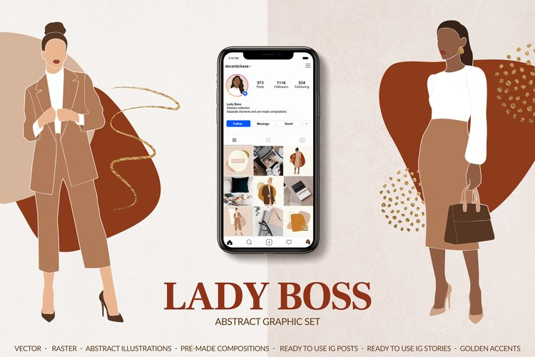 Lady Boss Abstract Set example image 1