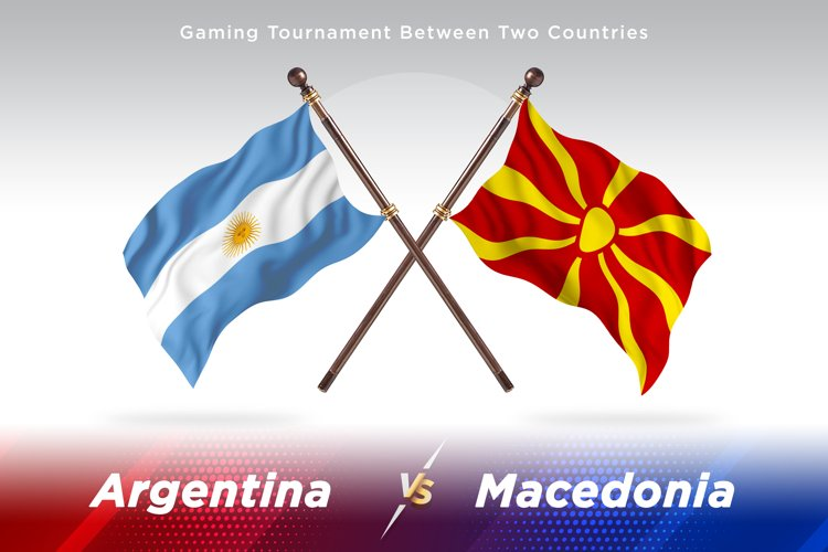 Argentina vs Macedonia Two Flags example image 1