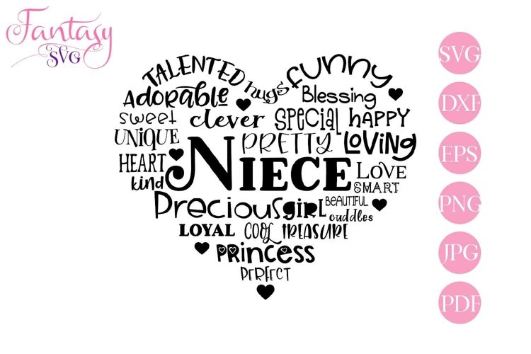 Niece Word Art - Svg Cut Files example image 1