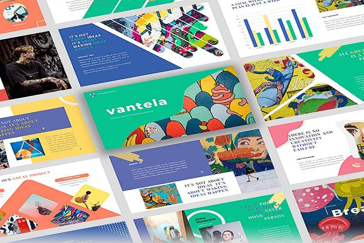 Vantela - Pop Art & Grafitti Powerpoint Template example image 1