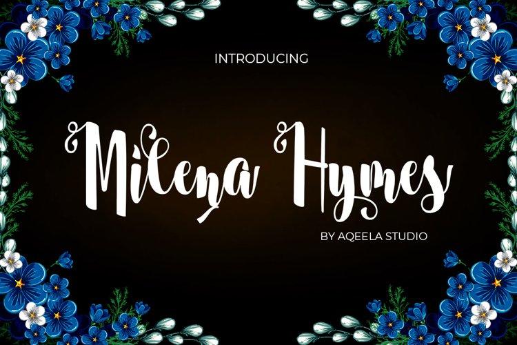 Milena Hymes Script example image 1