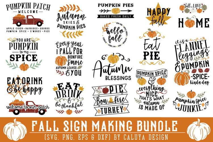 BIG! Fall Sign Making Bundle example image 1