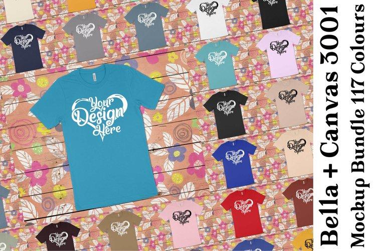 Bella Canvas Mockup 3001 Bundle Clean T-Shirt Mock Ups 333