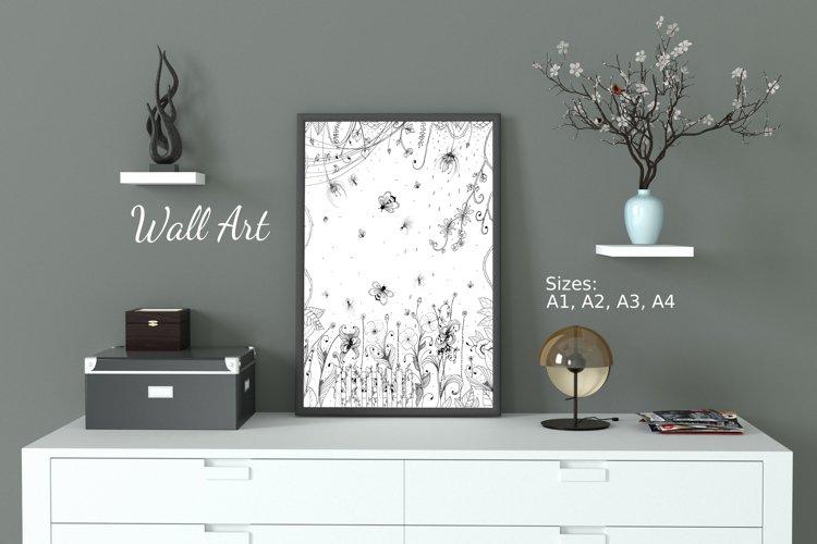 Floral Design Art Set - Mandala, Cliparts and illustration