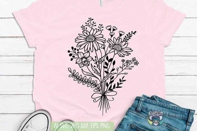 Bouquet svg, Floral svg, Wildflower, Daisy svg, Cricut Files