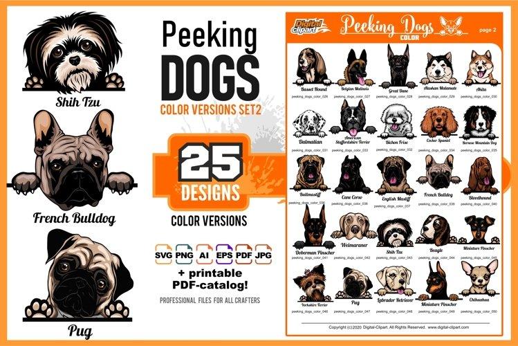 Peeking Dogs - Color Set 2 - 25 vector designs