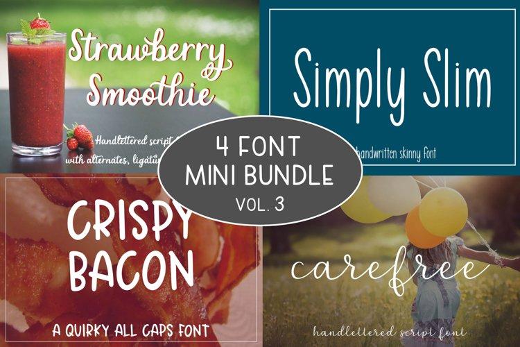 4 Font Mini Bundle - Volume 3